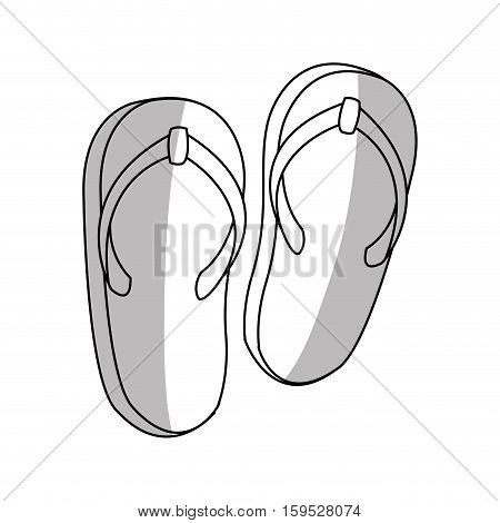 Sandals icon. Shoes fashion footwear and beach theme. Isolated design. Vector illustration