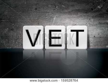 Vet Tiled Letters Concept And Theme
