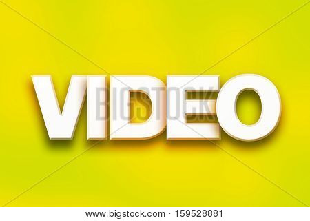 Video Concept Colorful Word Art