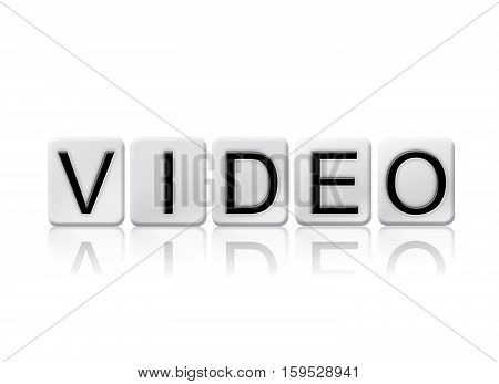 Video Isolated Tiled Letters Concept And Theme