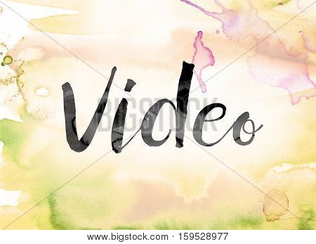 Video Colorful Watercolor And Ink Word Art