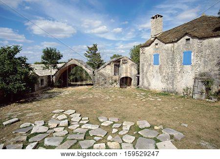 Stone House In Cavalerie Village, Aveyron, France