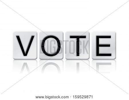 Vote Isolated Tiled Letters Concept And Theme