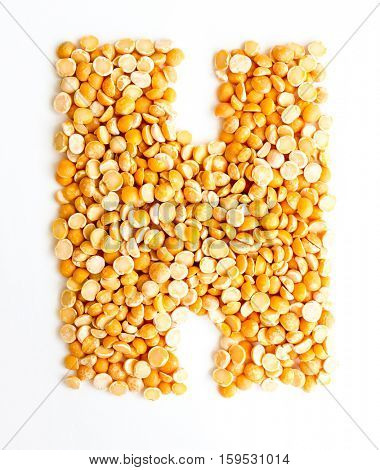 The peas Initials letter H.
