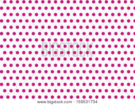Pink dots on a white background abstract pattern Pop art style Dots background Symmetrical dots background