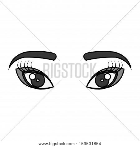 geisha eyes view icon vector illustration design
