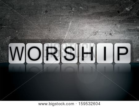 Worship Tiled Letters Concept And Theme