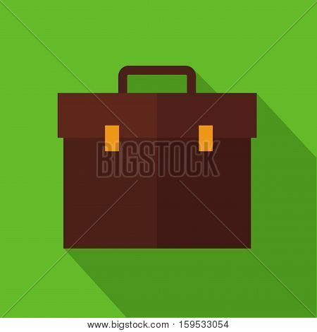 Buisness bag with long shadow job vector