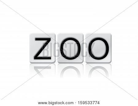 Zoo Isolated Tiled Letters Concept And Theme
