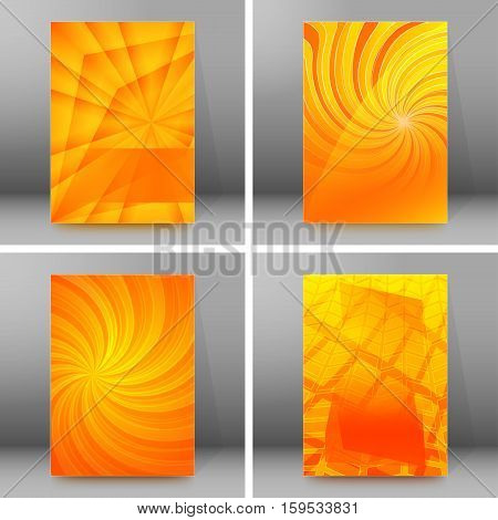 Design elements business presentation template. Vector illustration set vertical web banners background backdrop glow light effect . EPS 10 for web buttons template web site page presentation