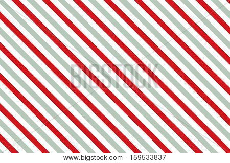 Gray-red stripes on white background. Striped diagonal pattern Gray-red diagonal lines background, Winter or Christmas theme