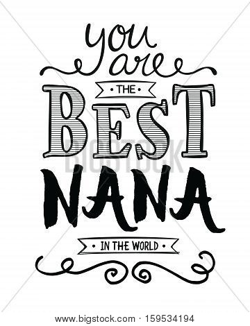 You are the best Grandpa in the World Typographic Art Award Printable Poster Card Graphic