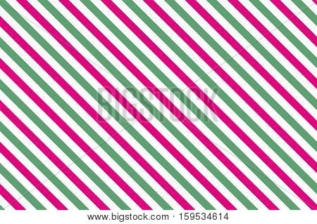 Pink-green stripes on white background. Striped diagonal pattern Pink-green diagonal lines background, Winter or Christmas theme
