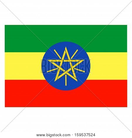Flag of Ethiopia on a white background
