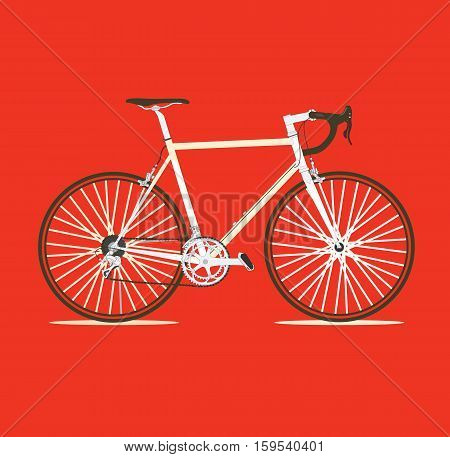 Realistic Bike vector logo red background stock