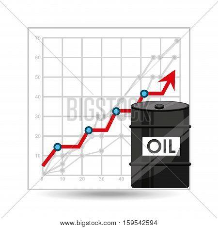 barrel oil concept growth graph vector illustration eps 10