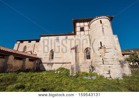 Valpuesta ancient monastery origin of the spanish lenguage. Burgos Spain.