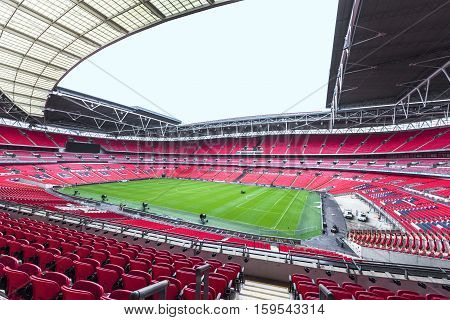 London, the UK-May 2016: view on the modern arena of Wembley