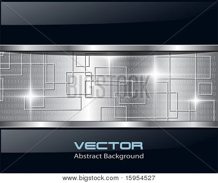 Abstract background metallic technology, vector.