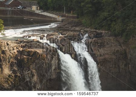 Snoqualmie Falls waterfall in Washington state, USA.