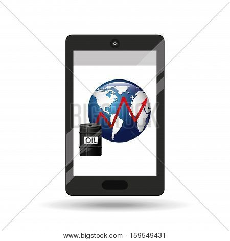 business oil smartphone global increase price vector illustration eps 10