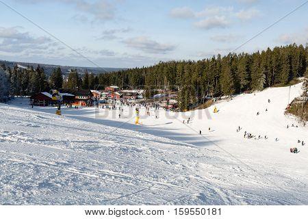 Small Ski Resort In Sweden