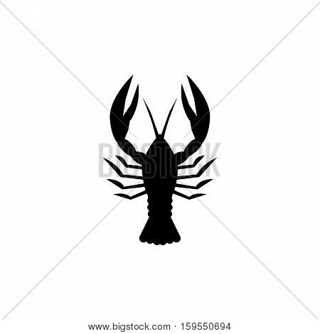 Lobster Icon. Flat illustration isolated vector sign symbol
