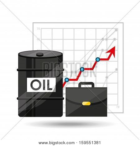 oil and petroleum industry increasing graph business vector illustration eps 10