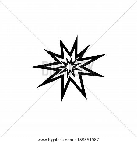 Explosion Icon. Flat illustration isolated vector sign symbol