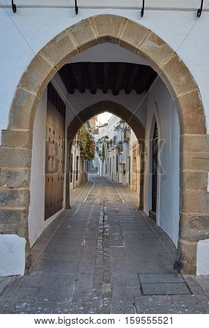 Zafra Arco de Jerez Puerta Arch in Extremadura of Spain by via de la Plata exterior image shot from public floor