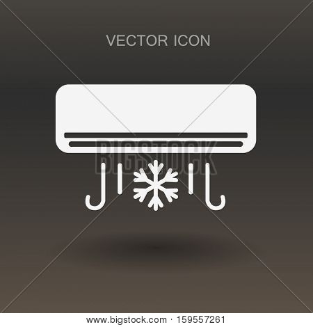 cooling the air conditioner works vector illustration