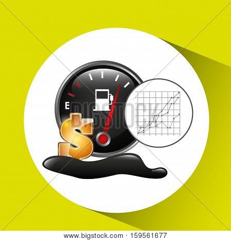gasoline price oil industry growth diagram background vector illustration eps 10