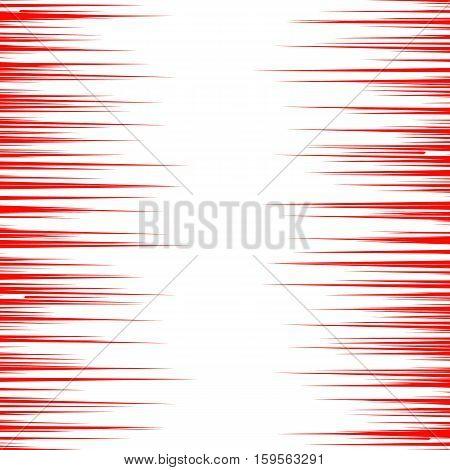 Abstract comic book speed lines background. Vector illustration for superhero design. Bright red and white light strip burst. Flash ray blast glow. Manga cartoon hero fight