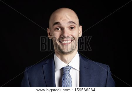 Surprised Man On Black Background