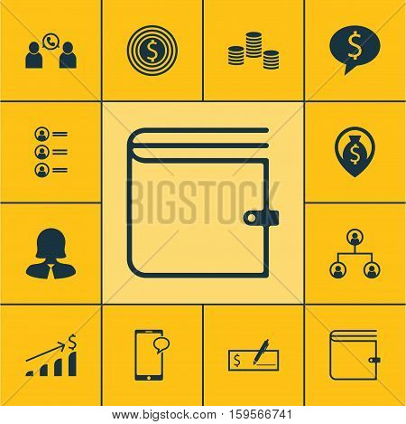 Set Of Management Icons On Business Deal, Money And Messaging Topics. Editable Vector Illustration. Includes List, Increase, Cash And More Vector Icons.