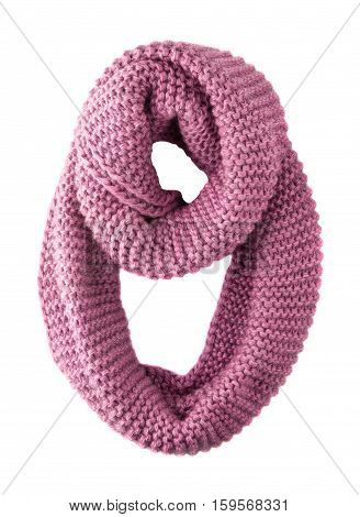 Scarf Isolated On White Background.scarf  Top View . Pink Scarf