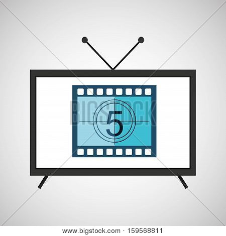 screen tv movie strip countdown film vector illustration eps 10