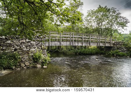 A bridge in Little Langdale, Lake District National Park, Cumbria, England