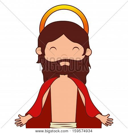 jesuschrist character religious icon vector illustration design