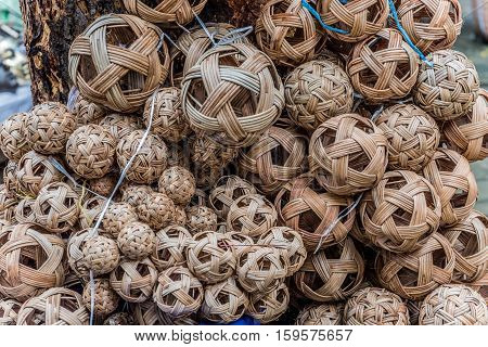 Sepak Takraw or rattan balls, famous sport in Southeast Asia