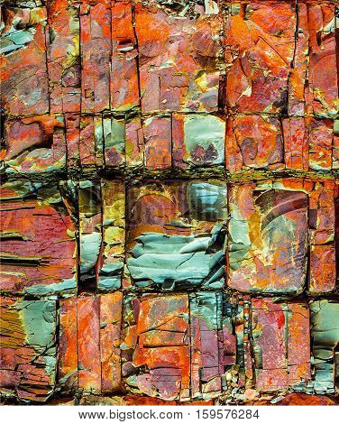 natural grunge background; the rocky geological material