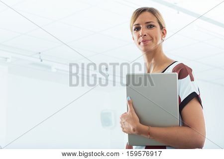 Businesswoman With A Large Tablet