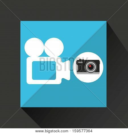 retro camera photographic record video vector illustration eps 10
