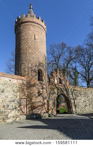 famous old city wall weir in Neubrandenburg