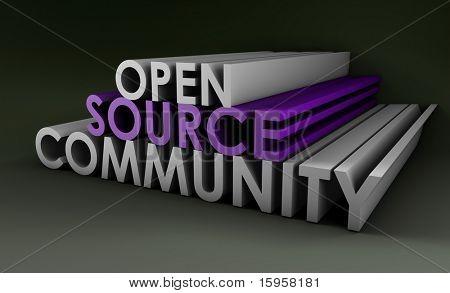 Open Source Community Concept in 3D Art