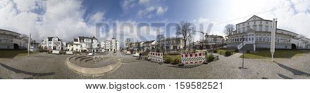 AHLBECK GERMANY - MAR 30 2016 :Ahlbeck at Baltic Sea on Usedom Island Mecklenburg- VorpommernGermany. Ahlbeck is a district of the Heringsdorf municipality.
