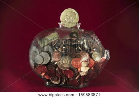 This is a photo of a piggy bank.