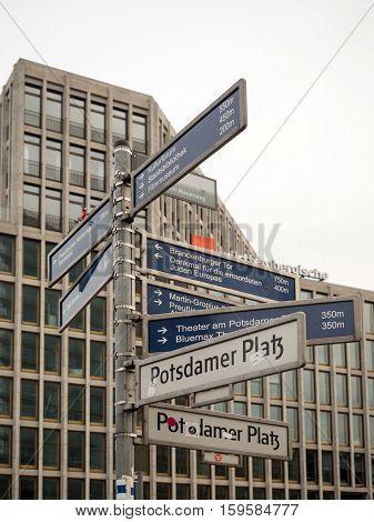 Street Signs In Berlin