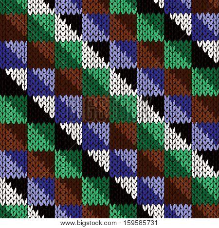 Seamless Knitted Diagonal Geometric Pattern