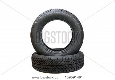 wheel car traction on a white background